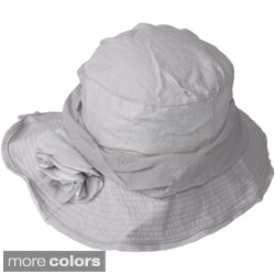 Adi Designs Women's 4-inch Slanted Wire Brim Hat