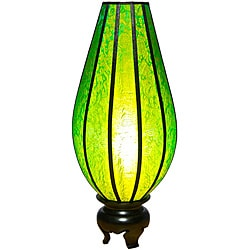Silk Large Serenity Lime Table Lamp (Vietnam)