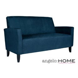 Angelo Home Sutton Midnight Blue Sofa Overstock Shopping Great Deals On Angelohome Sofas