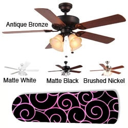 New Image Concepts 4-light Swirl Blade Ceiling Fan