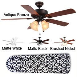 New Image Concepts 4-light 'Parisian Elegance' Blade Ceiling Fan