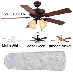 New Image Concepts 4-light Purple Sparkle Princess Blade Ceiling Fan