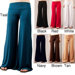 Tabeez Women&#39;s Wide Leg Jersey Pants