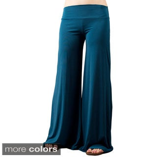 Tabeez Women's Wide Leg Jersey Pants