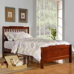Simone Mahogany Twin-size Captain Bed