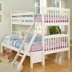 Simone Soft White Twin/ Full Bunk Bed