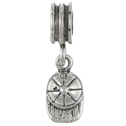 Signature Moments Sterling Silver Baseball Cap Dangle Charm