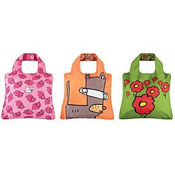 Envriosax Kid&#39;s Multicolor Pouch Shopper Tote Bags (Set of Three)