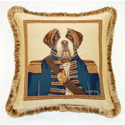 French Woven Sir Winston Jacquard Throw Pillow