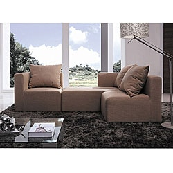 Furniture of America Kate Light Tan Modular Sectional Sofa