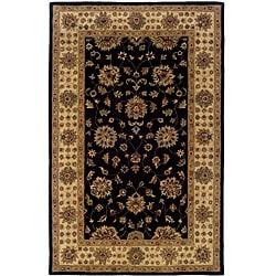 Hand-tufted Black Oriental Wool Rug (8' x 10')