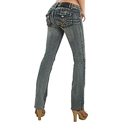 Virtual Sensuality Women's 'Coral' Black Stretch Push Up Jeans