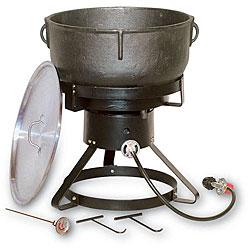 King Kooker 10-gallon Jambalaya Cast Iron Pot and Outdoor Cooker