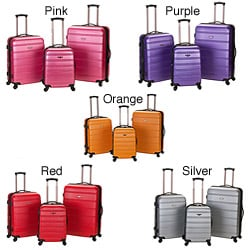 Rockland Melbourne 3-piece Expandable Hardside Spinner Luggage Set