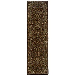 Hand-tufted Brown Wool Area Rug (2'3 x 8)