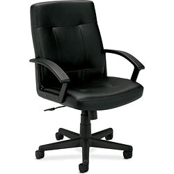 basyx by HON VL602 Black Managerial Mid-back Chair