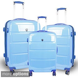 J World 'Vanesta' 3-piece Polycarbonate Spinner Luggage Set