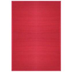 Villager Crimson Border Bamboo Rug (7' x 10')