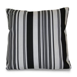 Thro Modern House Stripe Outdoor Black/ White Decorative Pillow ...