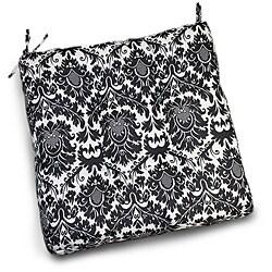 Thro Dynasty Damask Polyester Black White Outdoor