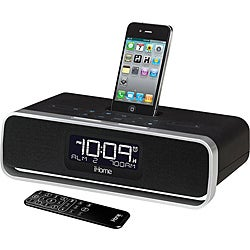 iHome App-Enhanced Dual Alarm Clock Radio with AM/FM Stereo System with iPod/iPhone Dock