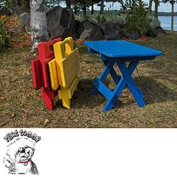 Phat Tommy Recycled Poly-wood Folding Side Table