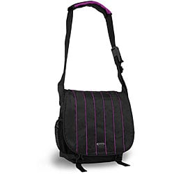 J World 'Jeanie' Black and Purple Messenger Bag