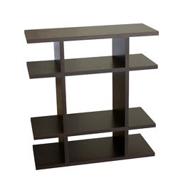 Furniture of America Cooper Stackable Black Wood Display Stand