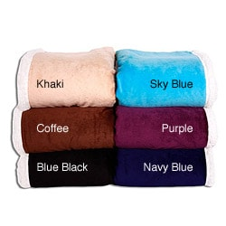 Microfiber Reversible Sherpa Throw