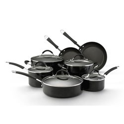 KitchenAid Porcelain Black 12-pc Nonstick Cookware Set