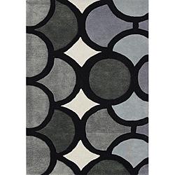 Handmade Metro Grey Geometric Wool Rug (4' x 6')
