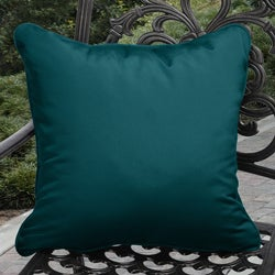 Clara Outdoor Teal Blue Pillows Made with Sunbrella (Set of 2)