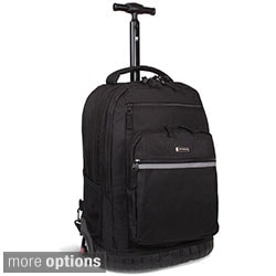 J World 'Sundance' Navy Block 19.5-inch Rolling Backpack with Laptop Sleeve