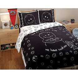 David and Goliath Cookies Queen-size 3-piece Duvet Cover Set