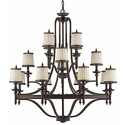 Connecticut 16-light Rubbed Bronze Chandelier