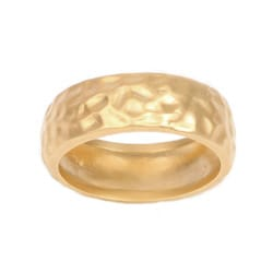NEXTE Jewelry 14k Gold Overlay Hammered Rounded Edge Wedding-style Band
