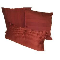 Buckley Burgundy Decorative Pillows (Set of 3)