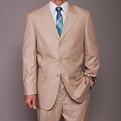 Carlo Lusso Men's Tan 3-button Suit