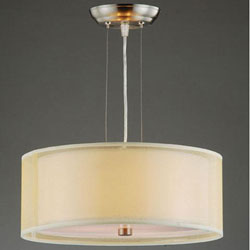 Altea Yellow and Off-white Dual Shade Pendant Chandelier