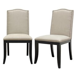 Baudette Beige Modern Dining Chairs (Set of 2)