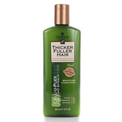 Schwarzkopf Thicker Fuller Hair 12-ounce Weightless Conditioners (Pack of 4)