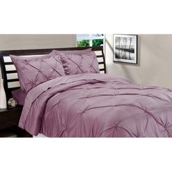 Matte Satin Dusty Rose Down Alternative 3-piece Comforter and Sham Set