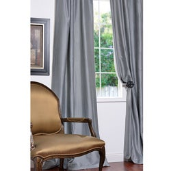 Signature Light Blue Cotton/ Silk-blend 108-inch Curtain Panel