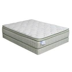 Eco-Pedic Euro Pillow-top Premium King-size Mattress Set