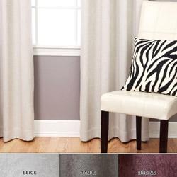 Embossed Room Darkening Grommet 84-inch Curtain Pair