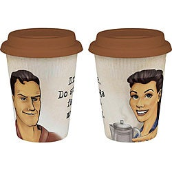 Konitz 'Crazy and Stupid' Travel Mugs (Set of 2)