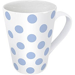 Konitz Polka Dots Blue Mugs (Set of 4)