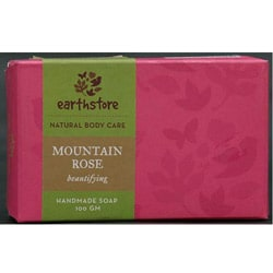 Set of 2 Handmade Mountain Rose Beautifying Soap Bars (India)