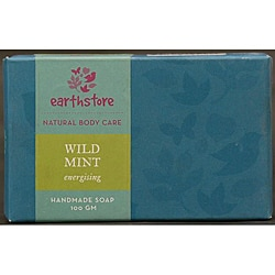 Set of 2 Handmade Wild Mint Energizing Soap Bars (India)