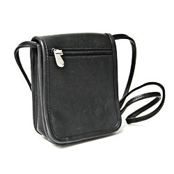 Royce Leather Vaquetta Petite Flapover Cross-body Bag